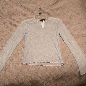 Forever 21 light blue mesh long sleeve never worn